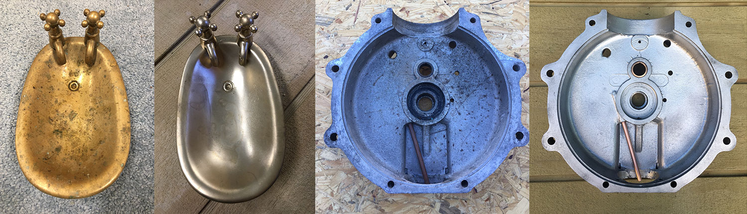 Before and After Vapour Blasting