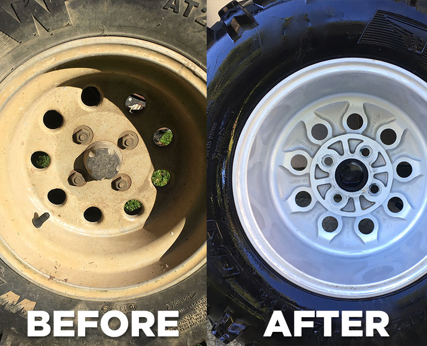 Quad Rims Before and After